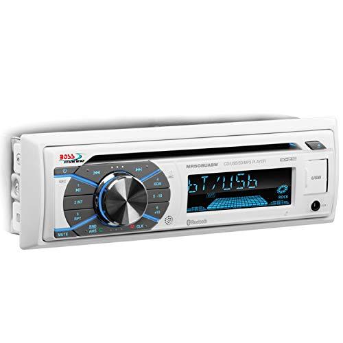 BOSS Audio Systems White NO Detachable FACE Audio MR508UABW Boss Mp3/Cd/Am/Fm/Bt Receiver