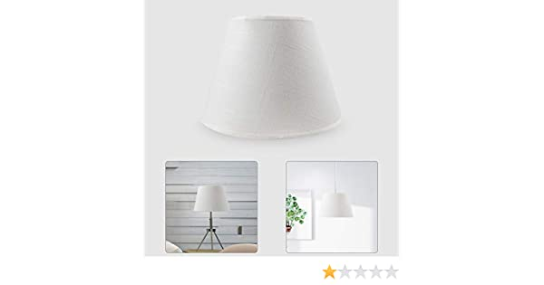 Wankd - Pantalla redonda para lámpara de pie, E27, 21 x 15 cm, color blanco, PVC, para pintar y pegar, 2 unidades, Blanco, 21 * 15cm: Amazon.es: Iluminación
