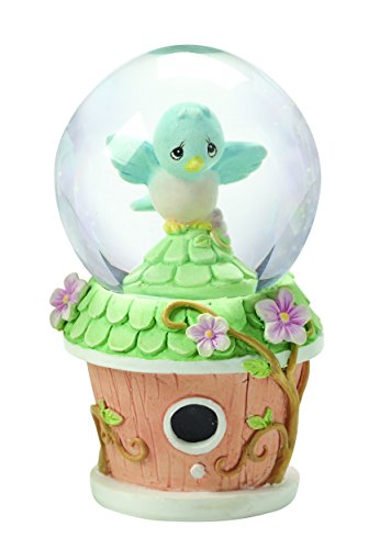 Precious Moments, Mini Snow Globe, Bluebird Birdhouse, 154445