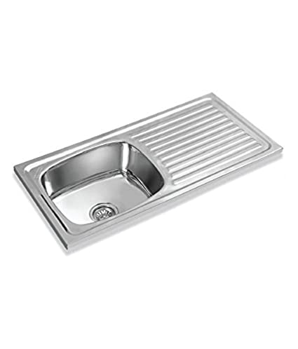 buy lotus stainless steel passion single bowl sink with drain board
