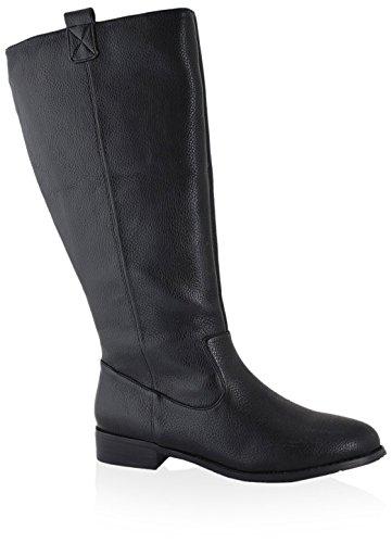 San Jacinto Women's Lone Star Wide Calf Boot Black HwaXlwY