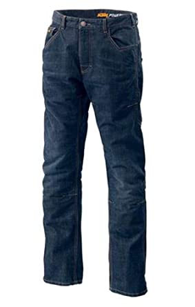 Amazon Com Ktm Evo Riding Jeans Blue 34 Large Clothing