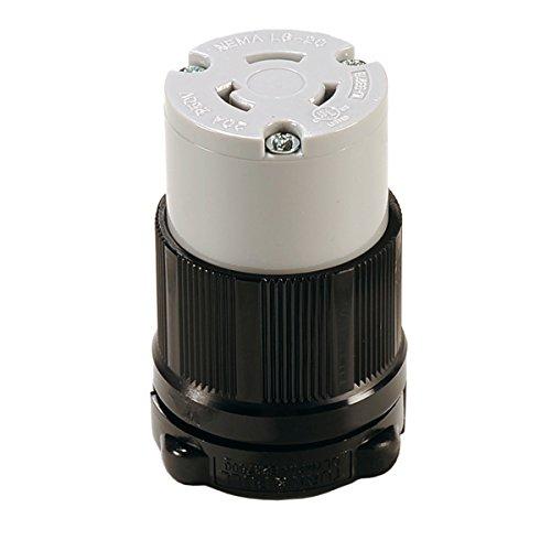 Twist-Lock NEMA L6-20R Replacement Connector Easy Assembly - Durable Nylon Construction - WBL620R - Rewireable
