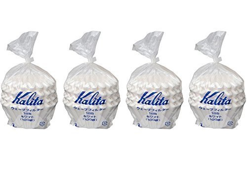 4 X Kalita:Wave Series Wave Filter 185[2-4 Persons] White.100 Pieces #22199(Japan Import) by Kalita