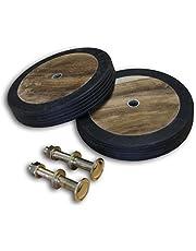 KMH®, Wielenset van echt teakhout en massief rubber (#102020)