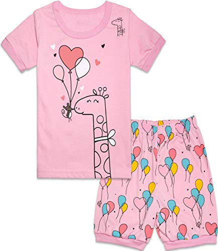 Qtake Fashion Girls Pajamas Balloons Set Children Clothes Set Deer 100% Cotton Little Kids Pjs Sleepwear (Pajamas4, 12)]()