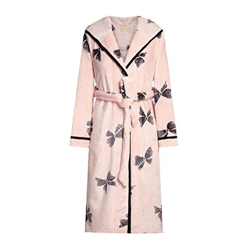 ZLR Stagione invernale Nuova sezione Ispessimento Accappatoio Lady Sleep Robe Home Abbigliamento Camicia da notte ( dimensioni : XXL )