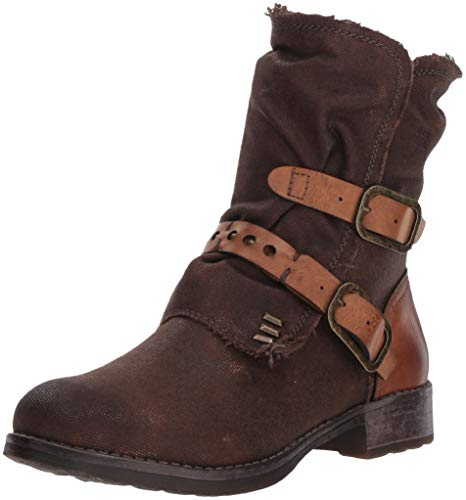 Dirty Laundry Women's Tycen Motorcycle Boot, Chocolate Canvas