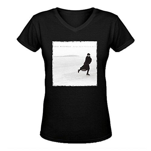 Heeloo Women's Joni Mitchell Songs of a Prairie Girl Personalized Fit T Shirt (Joni Mitchell T-shirts)