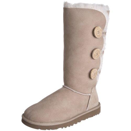 ugg-australia-bailey-button-triplet-women-us-5-nude-winter-boot