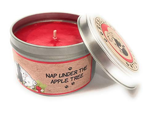 Rescue Tins Apple Cinnamon Super Scented Odor Eliminating 100% Pure Soy Candle- Handpoured in The USA- -Nap Under The Apple Tree -
