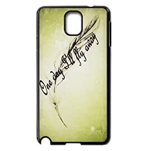 Feather Quote Fly New Fashion DIY Phone Case for Samsung Galaxy Note 3 N9000,customized cover case ygtg615911