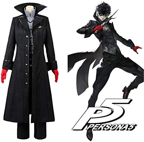 Amazon Com Persona 5 Cosplay P5 Joker Costume Jacket Ren Amamiya Full Set Akira Kurusu Uniform Outfit Party Halloween Custom Made Clothing