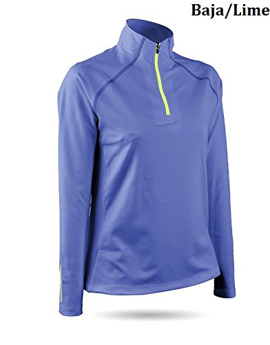 Sun Mountain Second Layer Golf Pullover 2016 Womens Baja/Lime Large