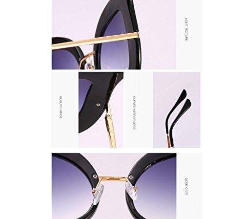 de Mujer Sol Jelly Black Black Gafas Sol Color Sol de Color de Gafas Gray gray Moda Pearl UV ZYXCC Protección de YANJING Diamond Gafas de de Uq86IB