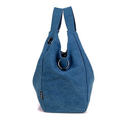 Naimo Handbag Blue Shoulder Vintage Canvas Bag New Women's Hobo Tote Bag rTPqFr