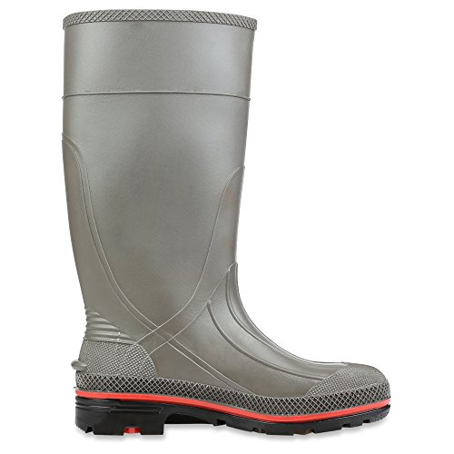 Soft Black Pro Servus Boots PVC Red Toe Work 15 75102 Gray Mens amp; Chemical Resistant nAq1dXRO