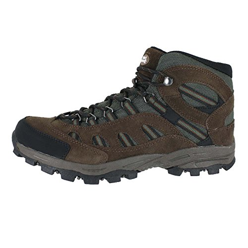 True North Hiking Mens Banff Scarponcino Medio Nero Marrone Taglia 10.5