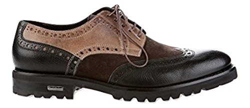 Baldinini 6208 Oxfords Leather Italian Designer Fur Lining Men's Shoes (44EU/10US)