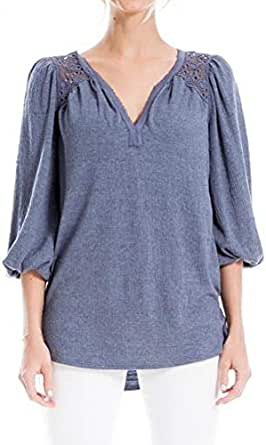 Max Studio Women's Crinkled Jersey Knit Top