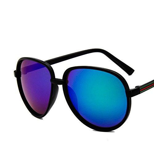 lunettes de soleil mesdames lunettes de soleil les marées les visages star des lunettes vintage de nouveaux styles élégant de personnalités de la corée du sudbright black mercure vert (tissu) LWmRN3eHoV