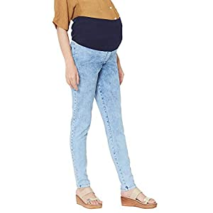 Moms Bee Stretchable Maternity Wear Denim Jeans India