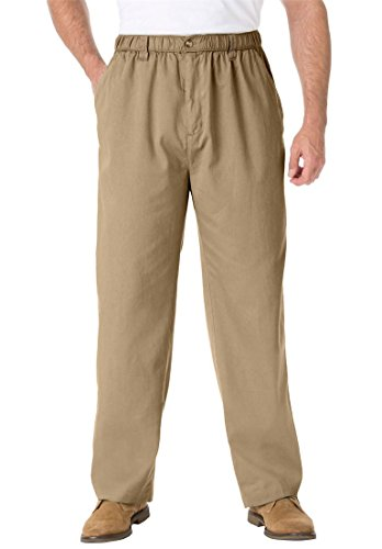 Knockarounds Plain Front Pants In Twill Or Denim, Khaki Big-7Xl38