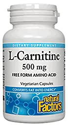 Natural Factors - L-Carnitine, Supports Normal & Healthy Vascular Function, 120 Vegetarian Capsules