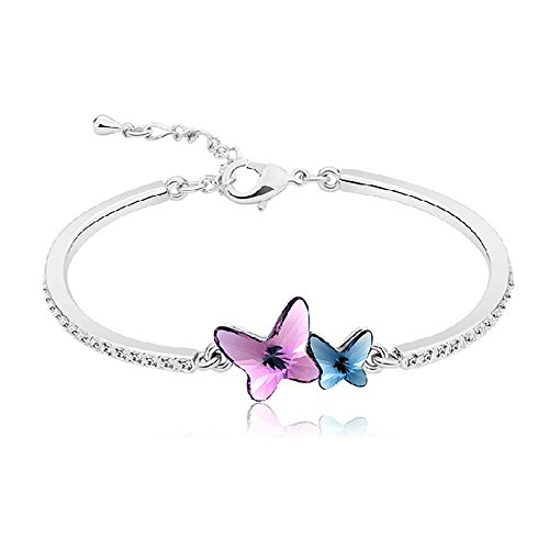 Dazzle flash Butterfly Bangle Bracelet for Women with Swarvoski Crystal Element -BGG165