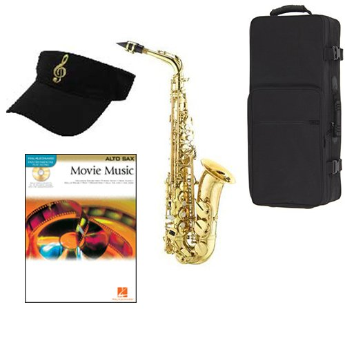 (Movie Music Alto Saxophone Pack - Includes Alto Sax w/Case & Accessories, Movie Music Play Along Book)