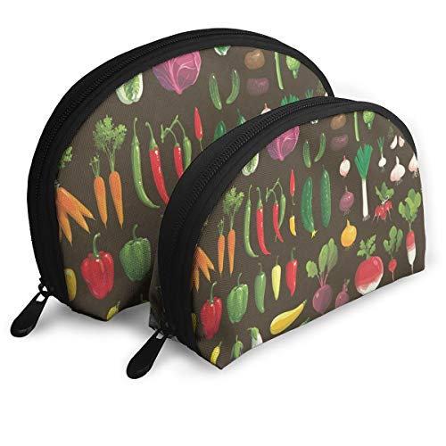 Makeup Bag Vegetable Chili Corn Portable Shell Storage Bag For Women Easter Gift Pack - 2 (Easter Tray Veggie)