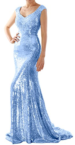 Formal Women Sequin Evening MACloth Dress Himmelblau Wedding Long Party Mermaid Prom Gown Y4wHdqw