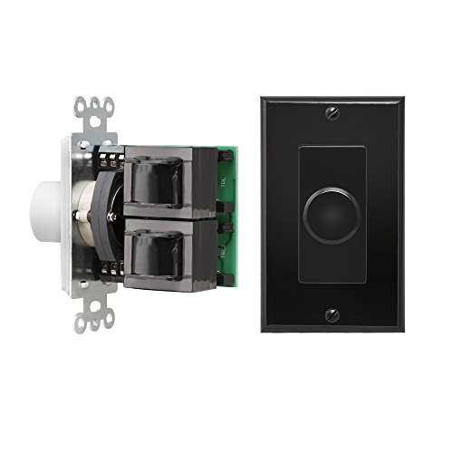 OSD Black SVC100 Impedance Matching 100W In-Wall Rotary Knob