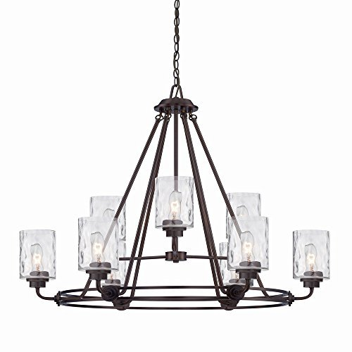 (Designers Fountain 87189-OEB Gramercy Park 9 Light Chandelier, 34