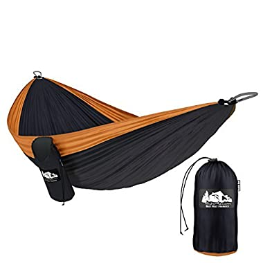 TimberRec Double Hammock – XL Parachute Camping Hammock for Indoor and Outdoor Use – Great for Hiking, Backpacking, in the Yard or on the Beach!