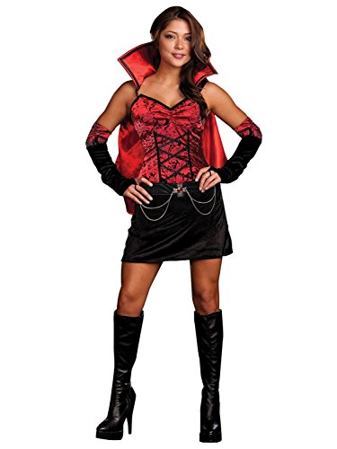 [Sexy Vampiress Dress Costume Adult Large] (Red Vampiress Adult Costumes)