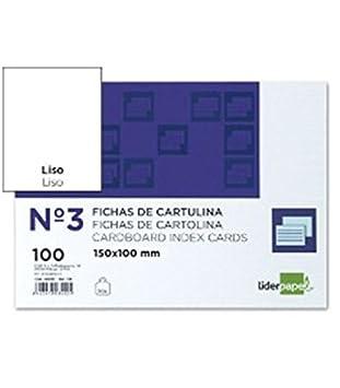 Liderpapel Ficha Rayada N/º 5 160X220Mm Paquete De 100 180g//m/²