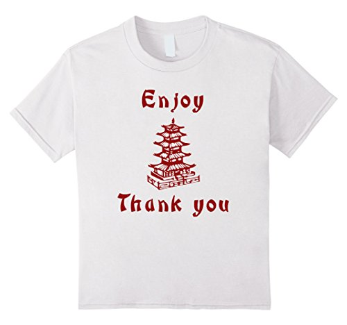 Kids Chinese Take Out Funny Halloween 2-Sided T-Shirt 4 White