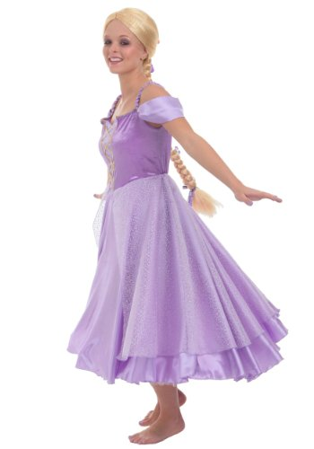 Princess Paradise Women's Tower Princess Deluxe Costume Dress, Purple -