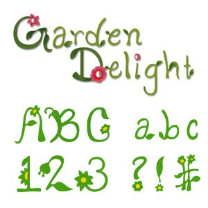 Sizzix 654881 Sizzlits Alphabet Set, 35 Dies, Garden Delight by Emily Humble (Sizzlit Alphabet Set)