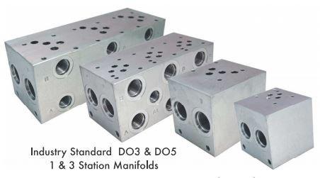 Hydraulic Manifold (D05 Manifold: MFG. No. AD05P023P, 2 Solenoids, 3000 PSI, Port: P & T: 3/4