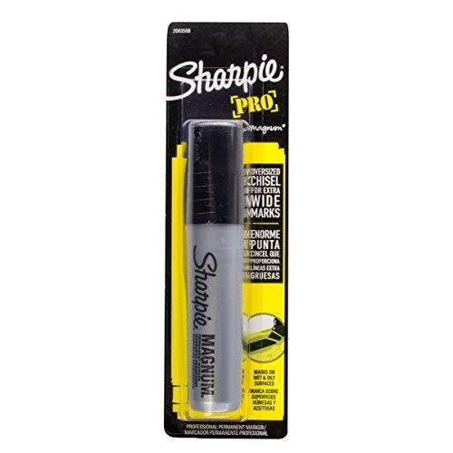 Sharpie (24 Pack) Pro Magnum Permanent Marker Set Chisel Tip Black Pens Pallet Markers Bulk Extra Large by Sharpie (Image #2)