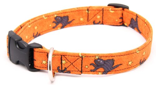 Country Brook Design Halloween Cat Designer Dog Collar-S