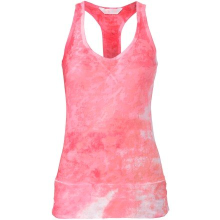 North The Print Face Jersey - The North Face Be Calm Tank Top - Women's Sugary Pink Watercolor Print, XL