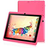 7 inch Tablet,Google Android 8.0 Quad Core 1024x600 Dual Camera Wi-Fi Bluetooth,1GB/8GB,Play Store Skype 3D Game Supported GMS Certified (Pink)
