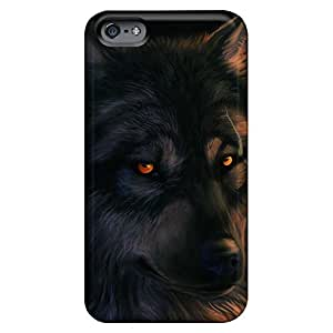 Compatible phone carrying covers trendy covers iphone 5 / 5s - the stare of a wolf hjbrhga1544