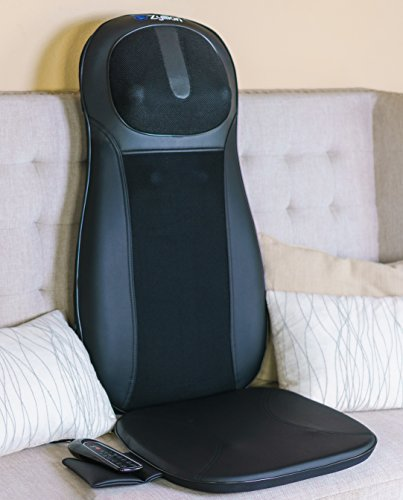 Zyllion ZMA14 Shiatsu Neck & Back Massager Cushion with Soothing Heat Function And 3 Massage Styles Rolling, Spot, and Kneading (Black) One Year Warranty by Zyllion (Image #2)