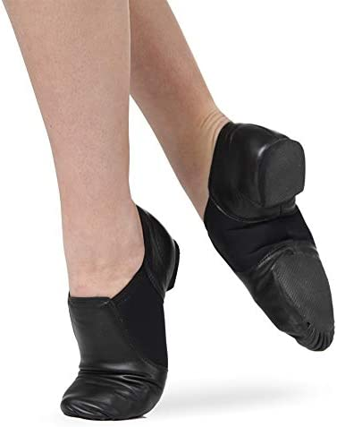 Leather Slip-On Split Sole Jazz Shoes