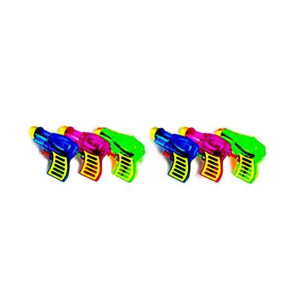 TOYMYTOY Acqua in plastica per pistola Squirt per bambini 6pcs (tipo e colore casuale) 1 spesavip