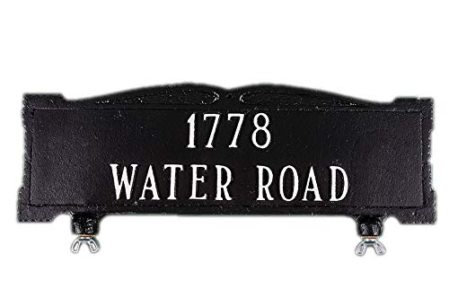 Comfort House Mailbox Topper Address Sign - Custom cast Aluminum Address Sign displays Your House Number - Attaches to Top of Mailbox 67076F by Comfort House